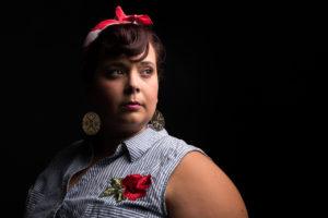 Potot portrait studio femme grosse
